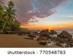 sunset along the pacific coast... | Shutterstock . vector #770548783