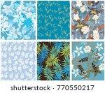 vector seamless pattern flowers ...   Shutterstock .eps vector #770550217