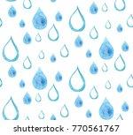 raindrop watercolor pattern   Shutterstock . vector #770561767