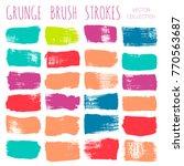 brush strokes set backgrounds.... | Shutterstock .eps vector #770563687