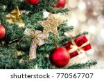 christmas background   baubles... | Shutterstock . vector #770567707