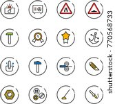 line vector icon set  ... | Shutterstock .eps vector #770568733