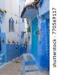 traditional moroccan courtyard... | Shutterstock . vector #770569117