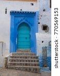 traditional moroccan courtyard... | Shutterstock . vector #770569153