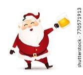 cute  funny  happy santa claus...   Shutterstock . vector #770571913