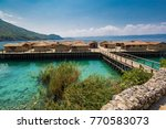 makedonia_museum on the water... | Shutterstock . vector #770583073
