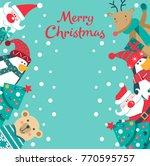 christmas invitation card....   Shutterstock .eps vector #770595757