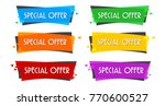 special offer sale banner for... | Shutterstock .eps vector #770600527