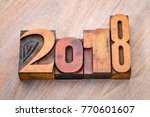 2018 year number abstract in... | Shutterstock . vector #770601607