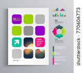 colorful business brochure... | Shutterstock .eps vector #770606773