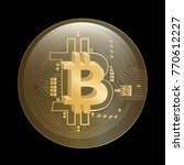 bitcoin crypto currency bubble | Shutterstock .eps vector #770612227