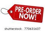 pre order now  label or price... | Shutterstock .eps vector #770631637