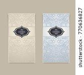 set template with abstract zen... | Shutterstock .eps vector #770636827