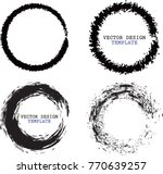 vector round frames. circle for ... | Shutterstock .eps vector #770639257
