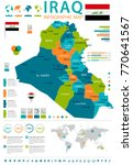 iraq infographic map and flag   ... | Shutterstock .eps vector #770641567