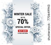 winter sale off template with... | Shutterstock .eps vector #770649943
