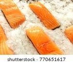 fresh fish  frozen from the sea. | Shutterstock . vector #770651617