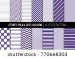 ultra violet polka dot  chevron ... | Shutterstock .eps vector #770668303