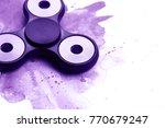 black plastic beautiful spinner ... | Shutterstock . vector #770679247