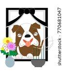 the dog's deceased.  | Shutterstock .eps vector #770681047