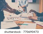 business team meeting and... | Shutterstock . vector #770690473