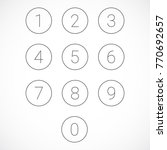 set of 0 9 numbers. gray number ... | Shutterstock .eps vector #770692657
