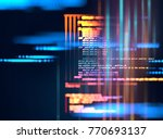 programming code abstract... | Shutterstock . vector #770693137