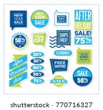 set of after christmas and end... | Shutterstock .eps vector #770716327