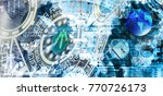 cyber space abstract background | Shutterstock . vector #770726173