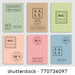 collection of sale banners ... | Shutterstock .eps vector #770736097