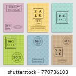collection of sale banners ... | Shutterstock .eps vector #770736103