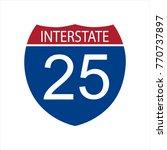 interstate highway road | Shutterstock .eps vector #770737897