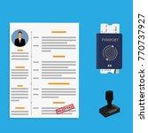 visa approved vector | Shutterstock .eps vector #770737927