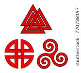 Valknut  Shield Knot And...