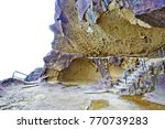 the onigajo rocks were believed ... | Shutterstock . vector #770739283