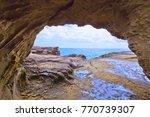 the onigajo rocks were believed ... | Shutterstock . vector #770739307
