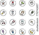 line vector icon set   baby... | Shutterstock .eps vector #770741857