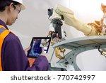 industry 4.0 robot concept ... | Shutterstock . vector #770742997