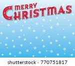 merry christmas message in... | Shutterstock .eps vector #770751817