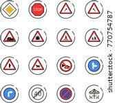 line vector icon set   main... | Shutterstock .eps vector #770754787