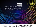 a luminous abstract background... | Shutterstock .eps vector #770755183