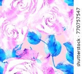 delicate romantic design with... | Shutterstock . vector #770757547