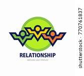 social network team partners... | Shutterstock .eps vector #770761837