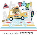 funny taxi driver  vector... | Shutterstock .eps vector #770767777