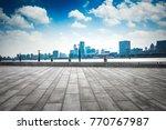 shanghai skyline in sunny day ... | Shutterstock . vector #770767987