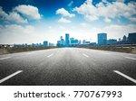 shanghai skyline in sunny day ... | Shutterstock . vector #770767993