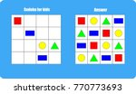 sudoku game with pictures ... | Shutterstock .eps vector #770773693