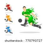vector illustration of soccer...   Shutterstock .eps vector #770793727