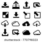 black cloud download vector... | Shutterstock .eps vector #770798323