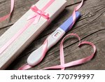positive pregnancy test with...   Shutterstock . vector #770799997